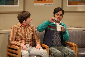 Kunal Nayyar, as Rajesh Koothrappali (right), in CBS's Big Bang Theory. Photo credit: CBS.com