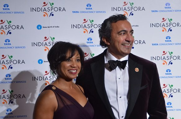 Indian American Congressman Ami Bera, with wife Janine Bera, at the Indiaspora 2013 Inaugural Ball at Mandarin Oriental in Washington, DC, Saturday, January 19. Photo by Global India Newswire/Shahi Prabhakaran