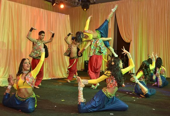 Dancers in splendid costumes entertained some 1,300 guests at the Indiaspora 2013 Inaugural Ball at Mandarin Oriental in Washington, DC, Saturday, January 19. Photo by Global India Newswire/Shahi Prabhakaran