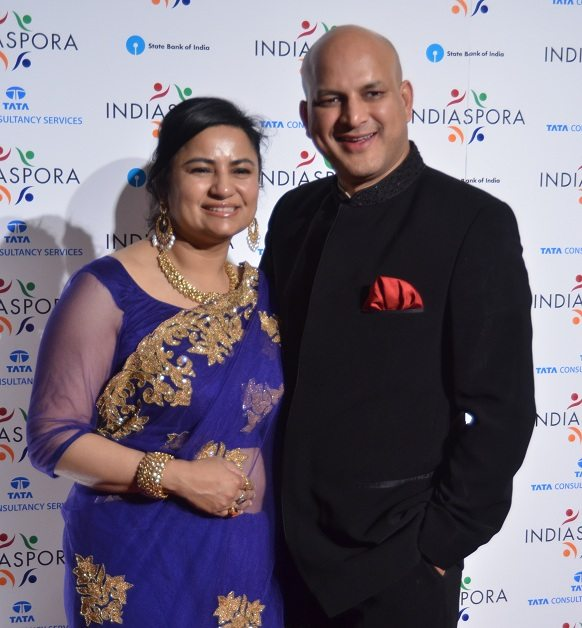 Amit Kanodia, managing partner of the Dedham, MA, -based Lincoln Ventures, with his wife, Shahana Basu Kanodia, at Mandarin Oriental in Washington, DC, Saturday, January 19. Shahana Basu Kanodia is the Chief Legal Officer of Apollo Tyres. Photo by Global India Newswire/Shahi Prabhakaran.