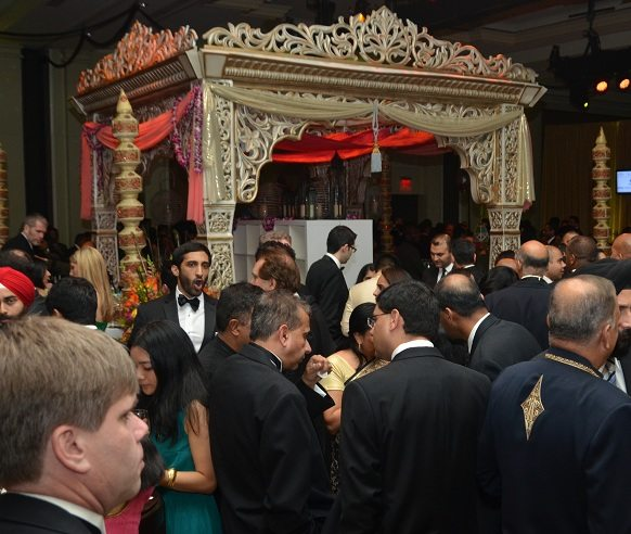 "A large Indian-style ""mandap"" served as a bar at the Indiaspora 2013 Inaugural Ball at Mandarin Oriental in Washington, DC, Saturday, January 19. Photo by Global India Newswire/Shahi Prabhakaran."