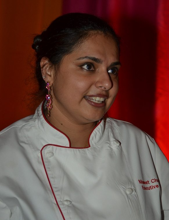 Food Network's Maneet Chauhan at the Indiaspora 2013 Inaugural Ball at Mandarin Oriental in Washington, DC, Saturday, January 19. Chauhan prepared food for the Indiaspora ball. Photo by Global India Newswire/Shahi Prabhakaran.