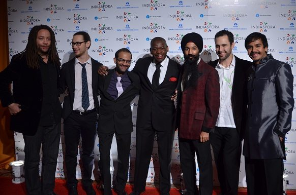 Members of the band Red Baraat at the Indiaspora 2013 Inaugural Ball at Mandarin Oriental in Washington, DC, Saturday, January 19. Photo by Global India Newswire/Shahi Prabhakaran.