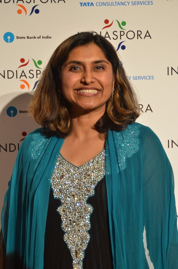 Sheela Murthy, founder of the Murthy Law Firm, at the Indiaspora 2013 Inaugural Ball at Mandarin Oriental in Washington, DC, Saturday, January 19. Photo by Global India Newswire/Shahi Prabhakaran.