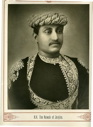 Nawab Sidi Ahmad Khan of Janjira . The Kenneth and Joyce Robbins Collection  The African nawabs (princes) of Janjira also ruled over Jafarabad in Gujarat. Photo: Courtesy of Schomburg Center for Research in Black Culture.
