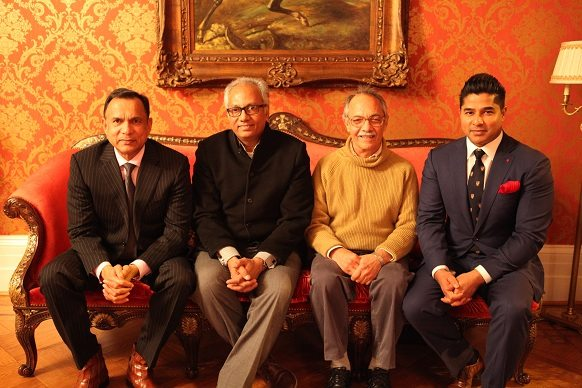 From left: Raju Chacko, Atul Dodiya, Gieve Patel and Ajay Raju