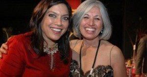 Director Mira Nair with the Executive Director of the Indo-American Arts Council, Aroon Shivdasani.