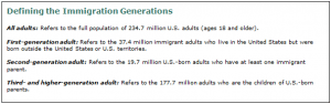 Defining the immigrant generations