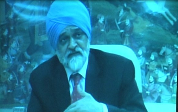 A file photo of Montek Singh Ahluwalia, the Deputy Chairman of India's Planning Commision, addressing the Wharton India Economic Forum via satellite in March 2009.  Credit: Global India Newswire
