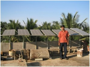 Solar panels installed on this entrepreneur's roof with S3IDF's help provides him with enough power to not only provide energy for his house, but also give him enough income to power his enterprise and provide for his community.