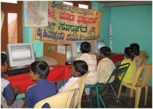 An ICT facility in Chitradurga run off of energy efficient technology consulted by S3IDF provides residents with access to the internet and an entrepreneur to run this internet café on rent.