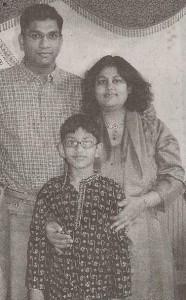 Arnav with his parents.
