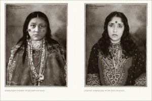 "A diptych from Annu Matthew's ""An Indian from India"" (courtesy of NYT/SepiaEYE)"