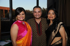 (From L to R): Guest of Honor Joya Dass, Emcee Jitin Hingorani and Chetna Board President Nirav Purohit