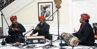 Barmer Boys performing at the Embassy of India on April 26.