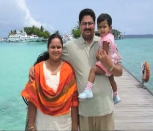 Santhosh Kumar and family