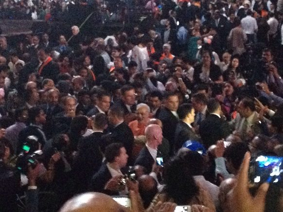Modi leaving Madison Square Garden after the speech.