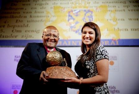 Neha Gupta (Courtesy of http://www.childrenspeaceprize.org/)