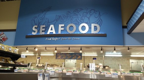 The seafood section at a Lotte Plaza store. Photo credit: Lotte Plaza