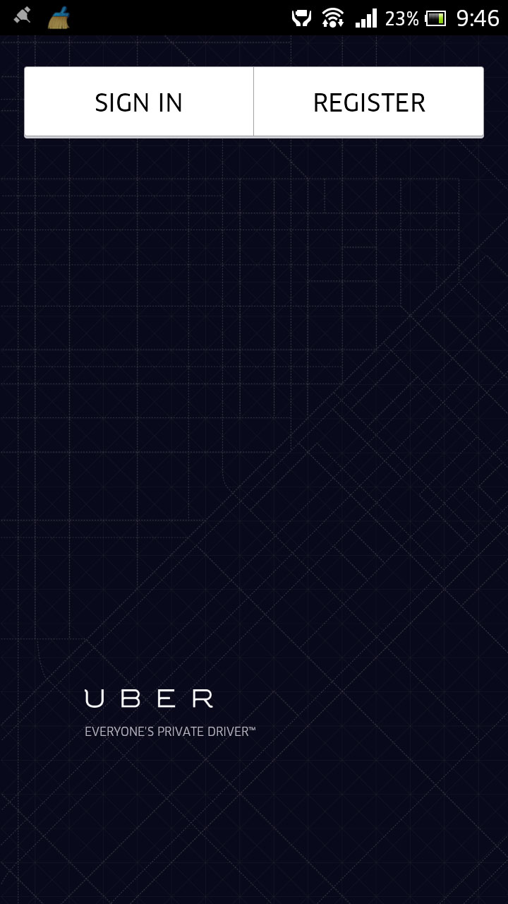 Old uber app