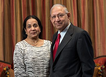Sushila and Durga Agrawal. Photo courtesy of University of Houston.