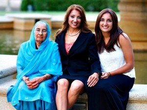 Preet Didbal with her mother and daughter. Courtesy of preetdidbal.com