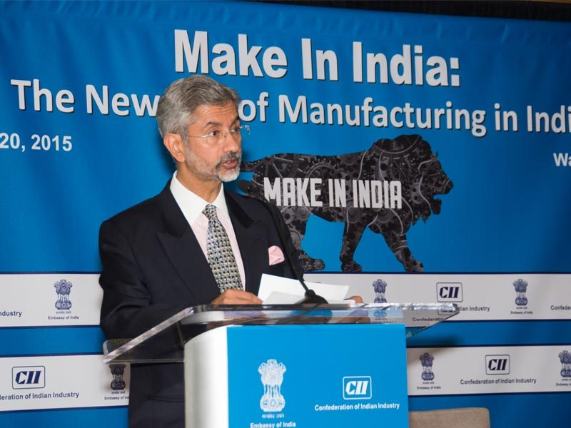 "Dr. S. Jaishankar, Ambassador of India to the United States, makes keynote address at CII-Embassy of India session on ""Make In India: The New Age of Manufacturing in India"" on Tuesday, 20 January 2015 in Washington D.C."