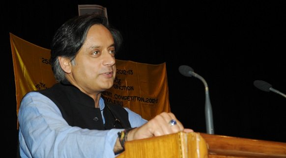 A July 15, 2013, file photo of Shashi Tharoor. Credit: PIB, GOI