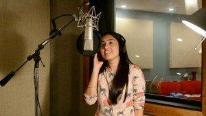 Subhi recording a song.