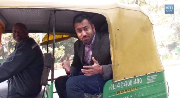 Kal Penn takes a auto on his India tour