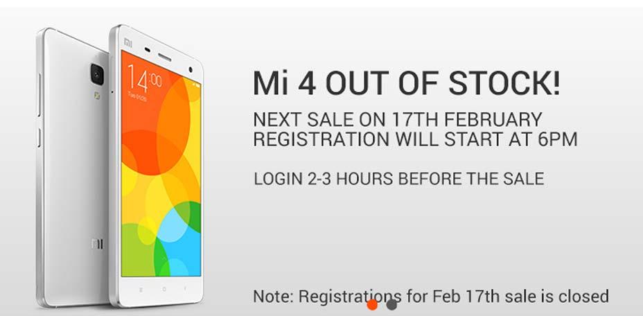 Xiaomi Mi4 16/64GB being sold via Flipkart open sale – The