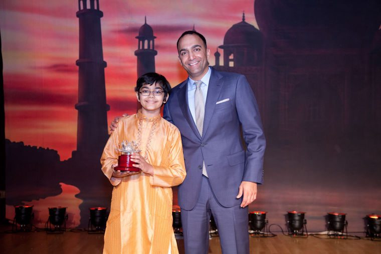 Tanishq with SF 49ers Parag Marathe (Oct 2014)- the Indian Community in Bay Area honored Tanishq for his brilliance and for his vision of serving humanity.