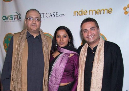 "From left to right: ""Rough Book"" producer Viveck Vaswani with lead actress Tannishtha Chatterjee and festival director Jitin Hingorani."