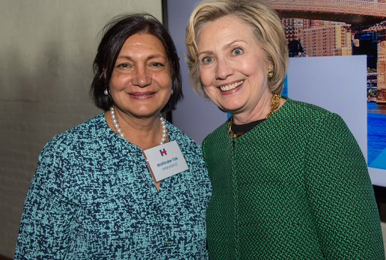 Mahinder Tak with Hillary Clinton in New York recently.