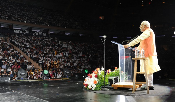 narendra modi madison square garden But to those who had listened to modi's speech at new york's madison square  garden (msg) last year, the sap center address may have.