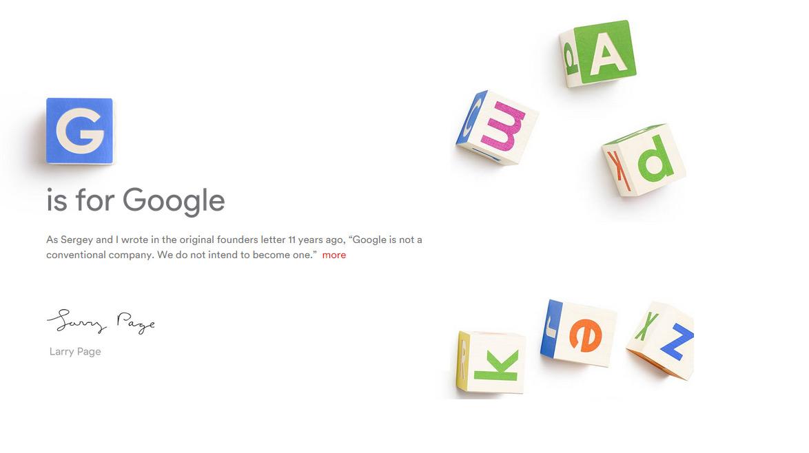 Google-is-Alphabet