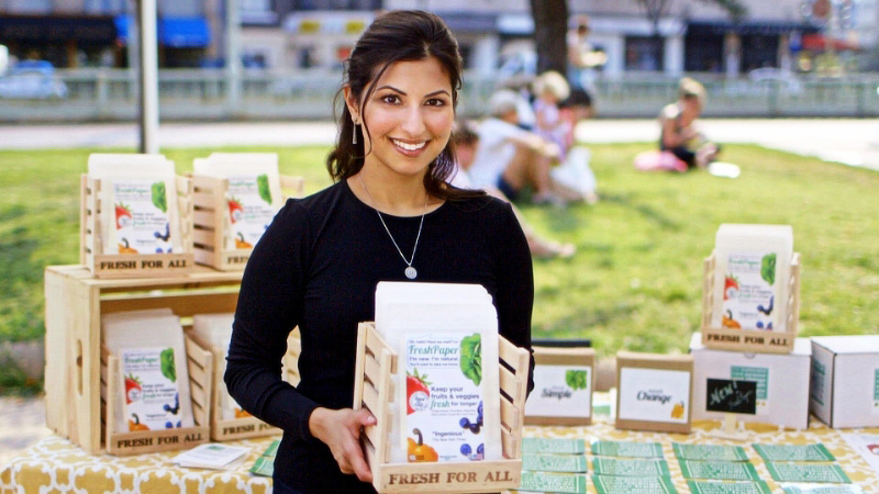 Kavita Shukla, the inventor of FreshPaper.