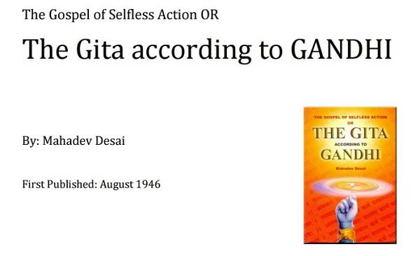 Geeta according to Gandhi