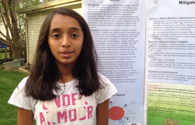 Indian American tween Iris Gupta finds way to treat allergies before they set in