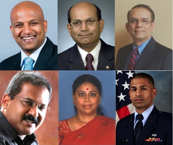 From top left clockwise: Dr. Navin Manjooran, Dr. Sasi K. Pillai, Dr. Prem Soman, Capt. Jophiel Philips, Leela Maret and George Kakkanatt.