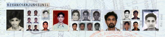Passport-Size Portraits by Arjun Rihan