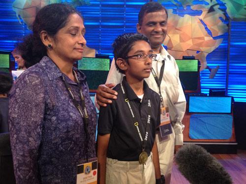 Rishi Nair with his parents
