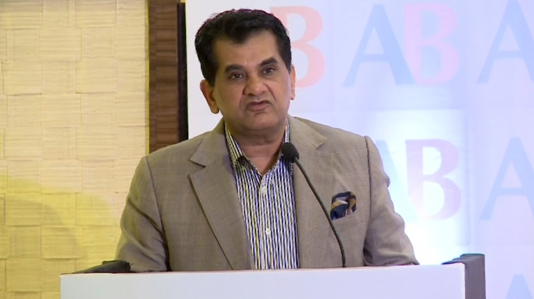 NITI Aayog CEO Amitabh Kant delivering the keynote address at the US-India Startup Forum, hosted by The American Bazaar in New Delhi on September 1, 2016.