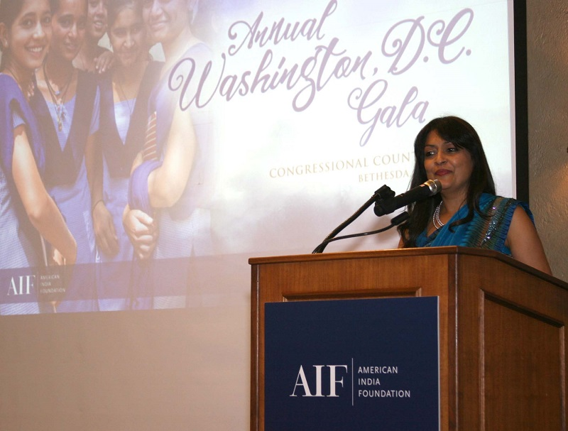 AIF Chair Lata Krishnan at the DC gala on September 23. Photo by Grover Concepts