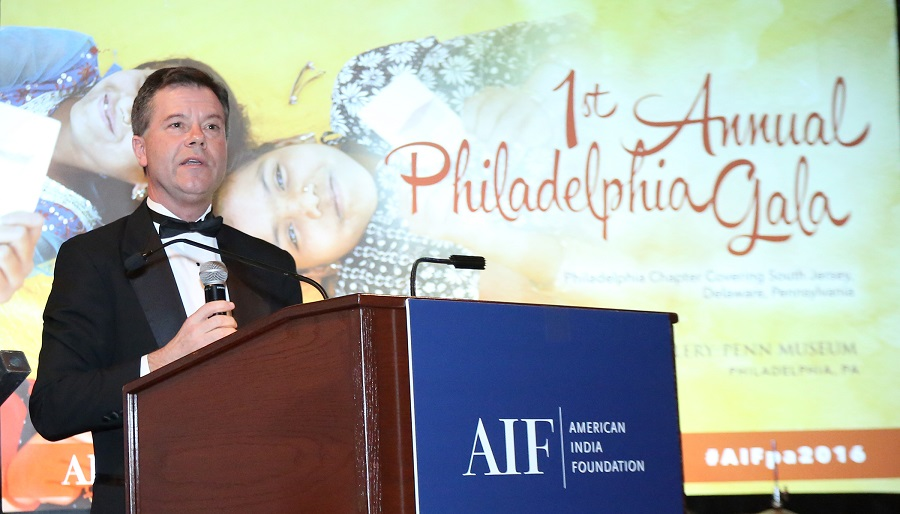 AIF CEO Alex Counts addressing the gathering. Photo credit: Gunjesh Desai / TV Asia