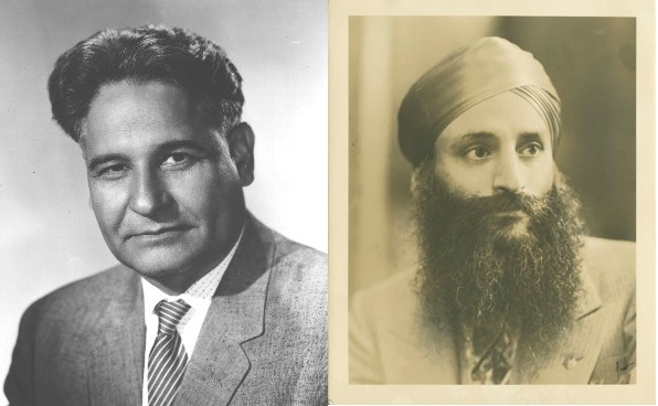 Left: Dalip Singh Saund and Bhagat Singh Thind. Images via Saund.org and the South Asian American Digital Archive