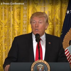 Donald Trump -- Press Conference Photo