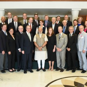 Modi with US lawmakers