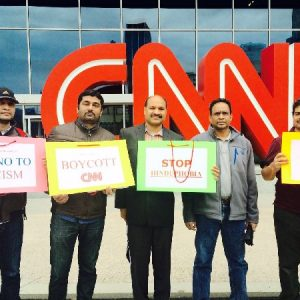 CNN Indian American Protest