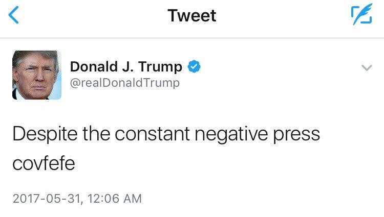 Trump tweets 'covfefe,' social media goes wild